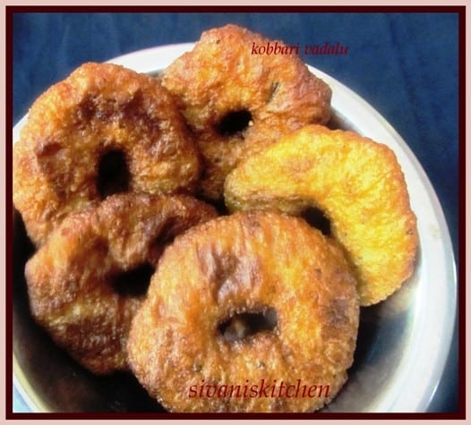 Kobbari Vadalu Recipe / Coconut Burelu / Coconut Sweet Burelu