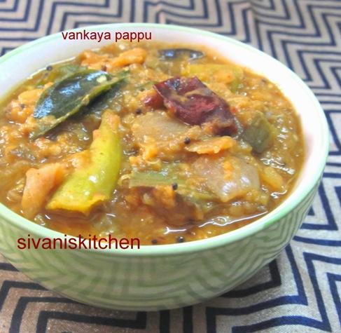 Vankaya Pappu / Dal With Eggplant / Brinjal Dal - Dal Recipes