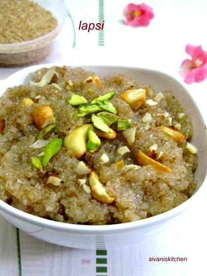 Lapsi Recipe/Broken Wheat Pudding-Gujarati Special Sweet-Halwa Recipes