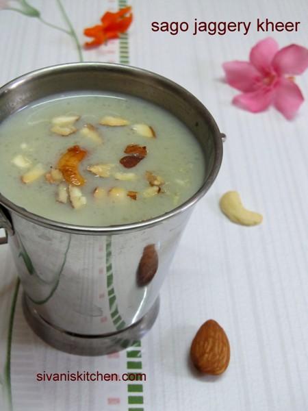 Saggubiyyam Bellam Payasam / Sabudana Kheer With Jaggery / Javvarisi Payasam - Payasam Recipes