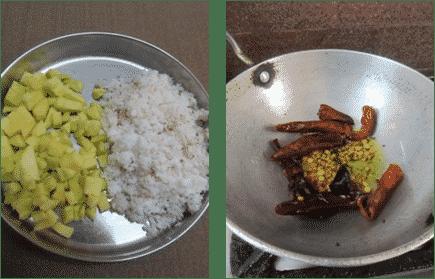 Mango Coconut Chutney / Mamidikaya Kobbari Pachadi - Andhra Style Mango Coconut Chutney