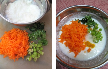 Carrot Raita Recipe / Carrot Perugu Pachadi / Carrot Yogurt Chutney