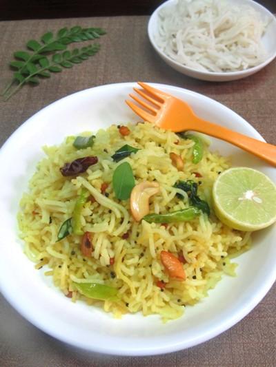 Lemon Idiyappam Recipe/Homemade Lemon Sevai/Idiyappam Lemon Pulihora