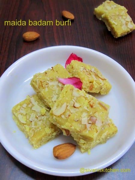Badam Burfi Recipe / Badam Burfi with MTR Badam Drink Mix - Burfi Recipes