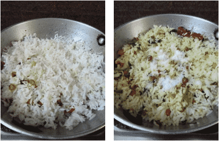 Sprouts Pulihora Recipe / Sprouts Lemon Pulihora / Lemon Rice with Sprouts