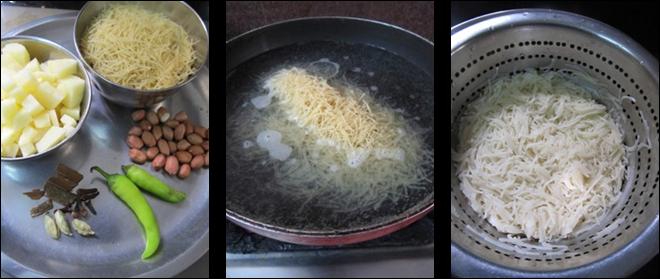 Aloo Semiya Bath / Vermicelli Aloo Bath / Semiya Potato Bath