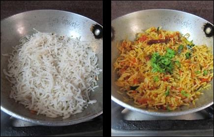 Tomato Idiyappam Recipe / Tomato Sevai / Idiyappam Tomato Bath