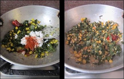 Avise aaku Senaga Pappu Podi Kura / Flax Leaves Chana Dal Curry / Avisaku Porial