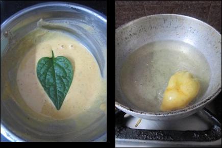 Bachali Aaku Bajji Recipe / Malabar Spinach Fritters / Bachali Kura Bajji