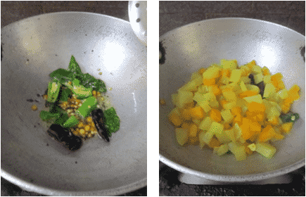 Carrot Chayote Curry Recipe / Chow Chow Carrot Porial / Bangalore Brinjal Carrot Dry Curry