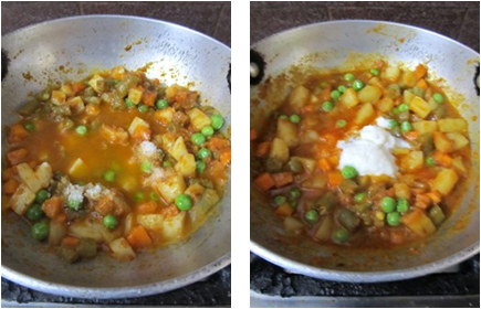 Mixed Vegetable Gravy Curry / Mixed Veg Sabji - without Onion and Garlic